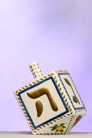 clay chanukkah dreidel