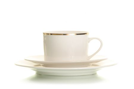 isolated coffee cup on white Imagens