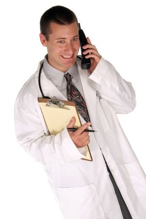 listening to your needs medical worker helps you over the phone