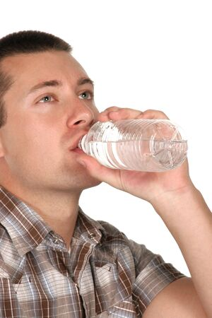 vertical of man drinking water