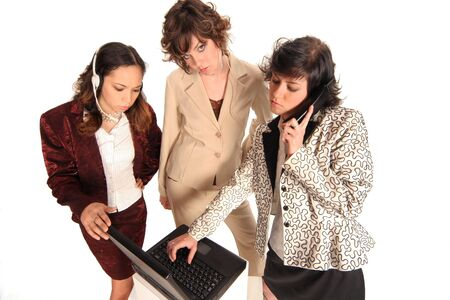 woman helping with your business communication needs Stock Photo