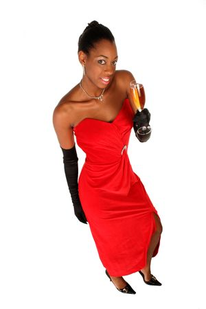 sassy: toasting with a glass of wine this sassy girl celebrates with you