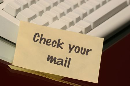 check your mail message on the keyboard