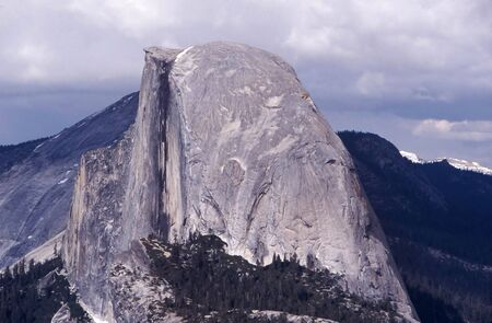 Halfdome in Yosemite valley on a cloudy day Stock Photo - 302433