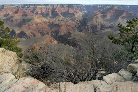 view of the Grand canyon in south west of the united states