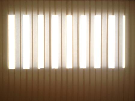 seeping: Light seeping through windows curtain