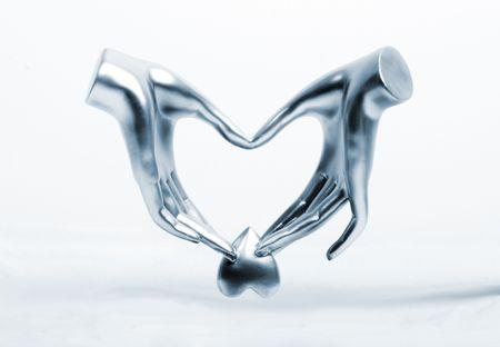 metalic: das metalic Handhalten stehlen Herz