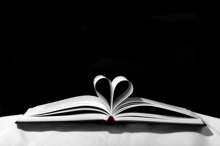 seperator: open book with heart