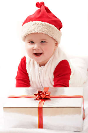 elation: baby and his christmas gifts