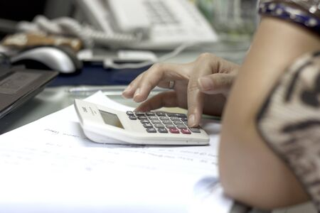 statistical:  female hand calculator