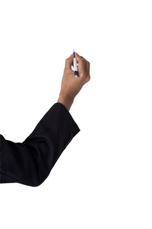businessman write with a pen photo