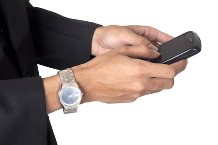 businessman interface handpone photo