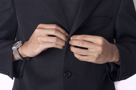businessman clothing buttons photo
