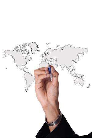 man hand business world