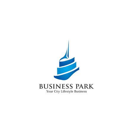 Business park icon logo Vector illustration. Vectores