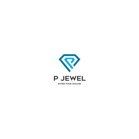 P Jewel icon logo Vector illustration. Ilustração