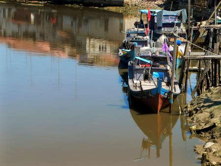 settlement: fishing boats at rural settlement