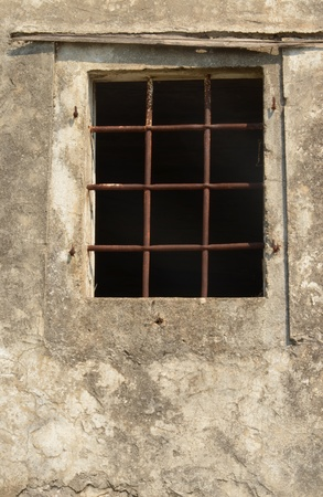 old window with lattice photo
