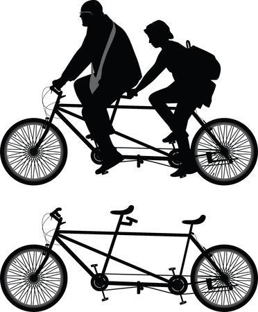 Two-seater bike Illustration