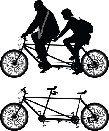seater: Two-seater bike Illustration