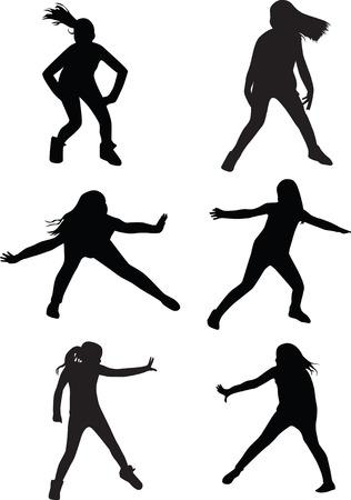 street dance kid Vector