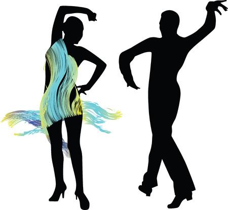 dance people silhouette vector Vector
