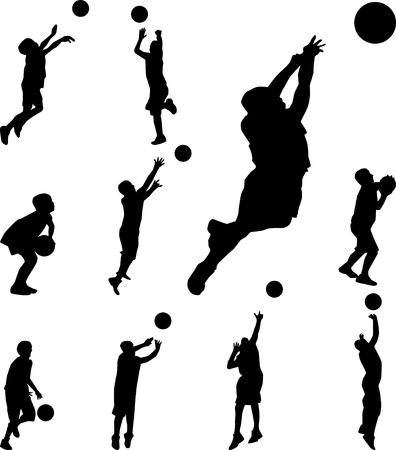 basketball player silhouette vector Stock Vector - 30037995