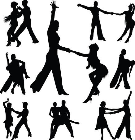 bailarines de salsa: La gente baila