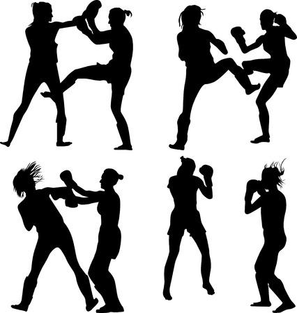 overhand: kickboxing woman