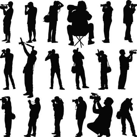 photographer silhouette vector royalty free cliparts vectors and stock illustration image 32837271