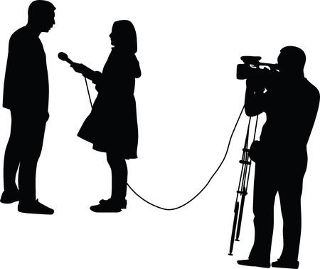 TV host interviewing a man