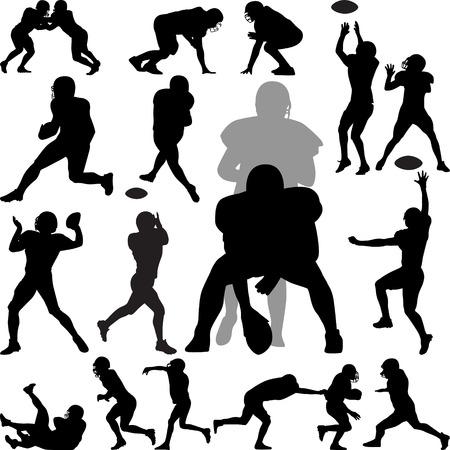 pelota rugby: Jugador de fútbol americano