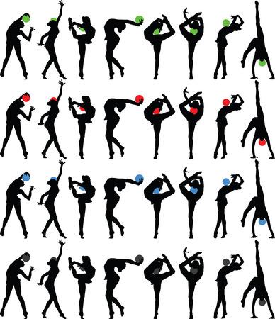 gymnastik: rhythmischen Gymnastik mit Ball