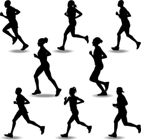 runner: runners silhouette