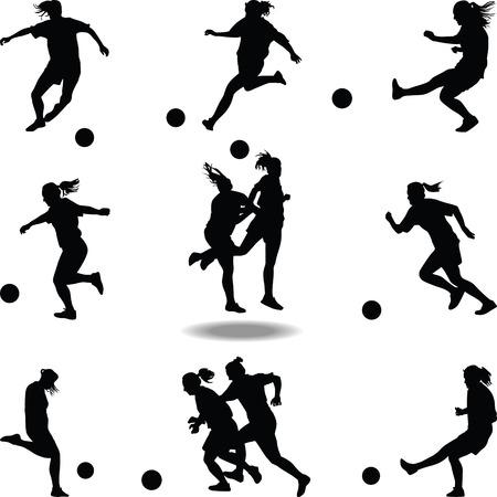 jugador de fútbol de la mujer