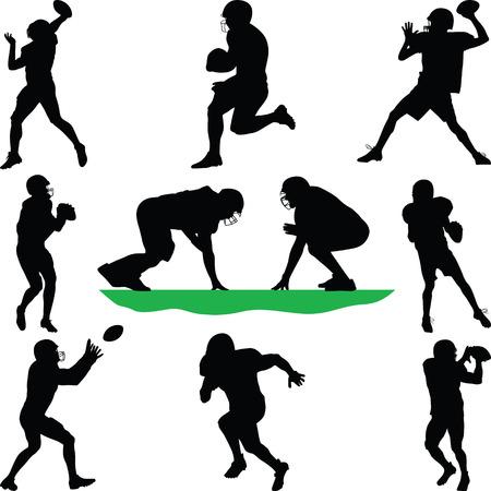 football players: jugador de fútbol americano