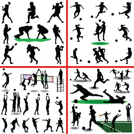 campeonato de futbol: fútbol, ??fútbol, ??voleibol, fútbol de las mujeres