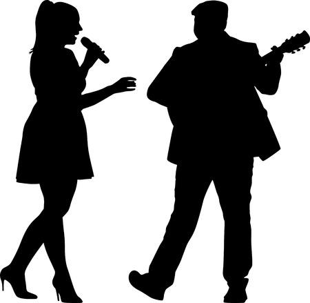 Cantante y guitarrista Foto de archivo - 43966250