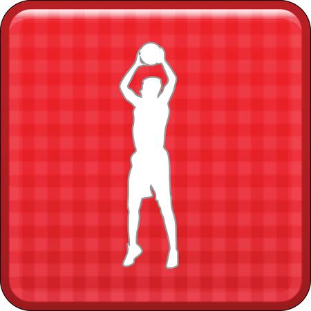 basketball player Stock Vector - 45839543