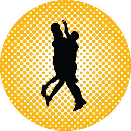 basketball player Stock Vector - 46452233