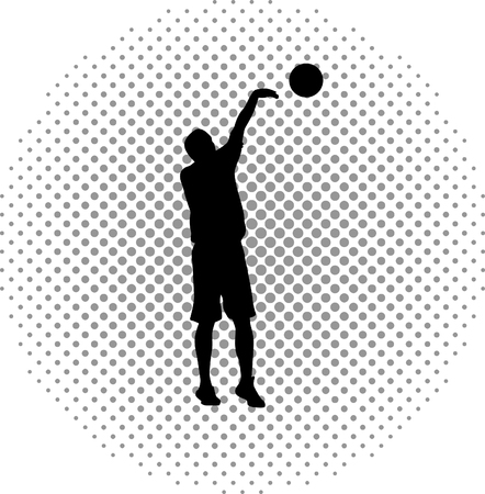 basketball player Stock Vector - 46500441