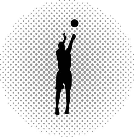basketball player Stock Vector - 46501721