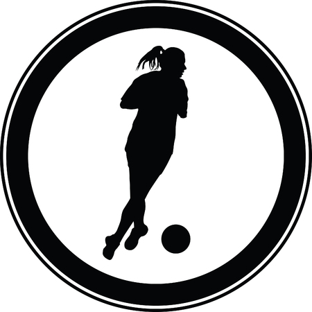 sportsmen: woman soccer player