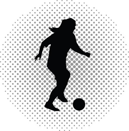 atack: woman soccer player