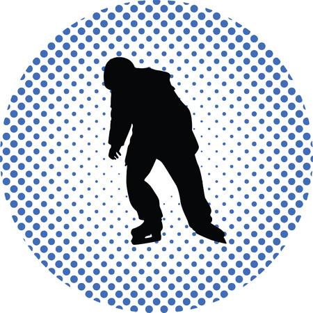 illustration: skating illustration