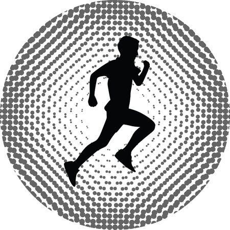 runner: runner vector icon Illustration
