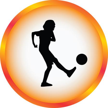 kid play soccer Illusztráció