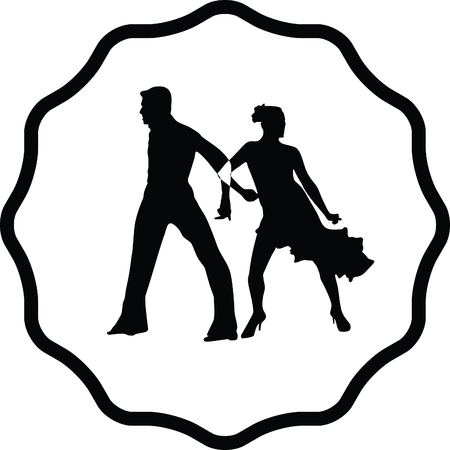 male silhouette: dance people