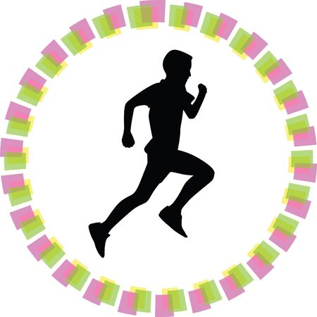 runner: runner vector icon Illustration