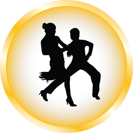 silueta masculina: La gente baila